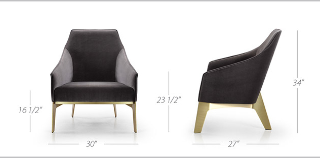 sally lounge chair sizes